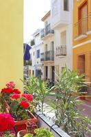 moraira teulada mediterrane dorpsstraten foto