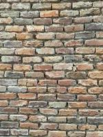 oude bakstenen muur foto