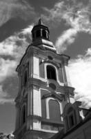toren van barokke kerk foto