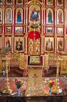 interieur van de orthodoxe tempel, stad suzdal, rusland foto