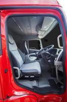 controlekamer van zware vrachtwagen foto