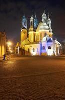 gotische kathedraaltorens 's nachts