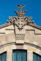 architectonisch detail in barcelona, spanje foto
