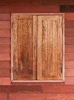 oude houten ramen foto