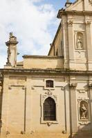 gevel van de kathedraal in lecce, italië. foto