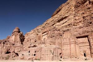 petra nabataeans hoofdstad (al khazneh), jordanië foto
