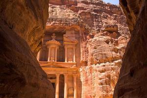 al khazneh in petra, jordanië foto