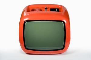 retro oranje tv foto