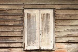 muur venster houten achtergrond foto