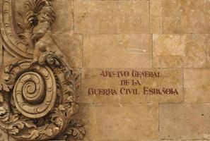 archivo general de la guerra civil, salamanca, spanje foto