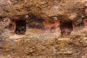 ethiopië, lalibela. moniolitische rots uitgehouwen kerk foto