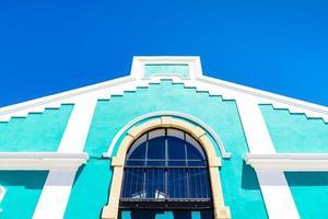 typisch gebouw in Lissabon, portugal foto