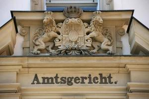gerechtsgebouw in forchheim (franconia) foto