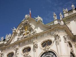 bovenste belvedere paleis foto