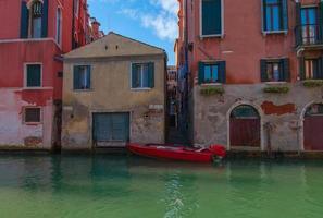 rode gondel, Venetië. foto