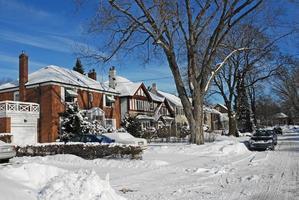winterse straat foto