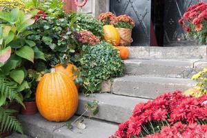 compositie op halloween bij de drempel foto
