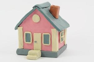plasticine huis ziet eruit als een typisch Amerikaans huis foto