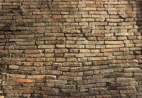 oude bakstenen muur textuur foto
