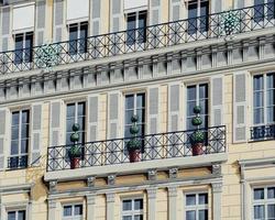 geschilderde gevel, mooi, franse riviera, frankrijk foto
