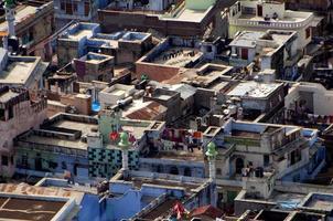 uitzicht op de stad chittorgarh vanaf het fort van chittorgarh, foto