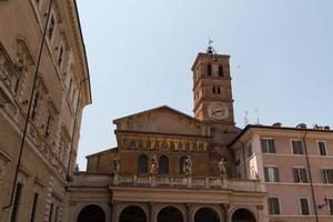 st. maria in trastevere, rome, italië foto
