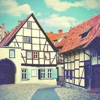 oude straat in Duitsland foto