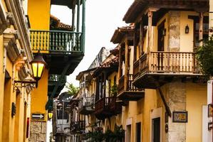 spaans koloniaal huis. cartagena de indias, de caribbea van Colombia foto