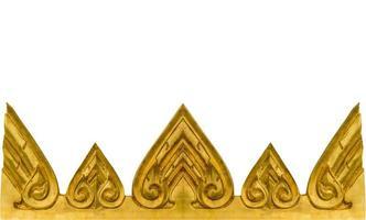 gouden textuur van muur in Thaise tempel. foto