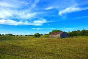 landbouwgrond met veld foto
