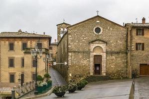 kerk van sant egidio, montalcino, italië foto