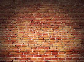 hoekmening van rode bakstenen muur foto