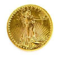 voor ons twintig dollar st. gauden dubbele adelaar gouden munt foto