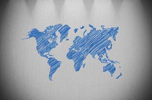 wereldkaart foto