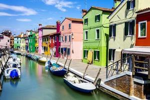 Burano dorp in de buurt van Venetië foto