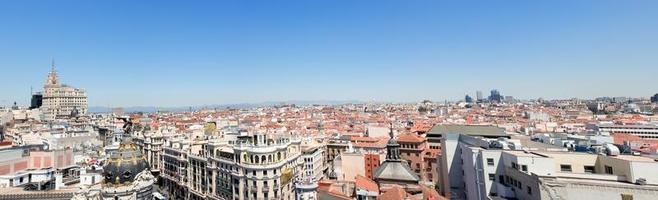 panoramisch uitzicht op de stad foto