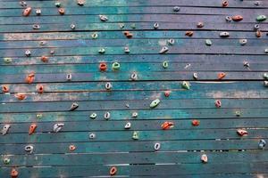 grunge oppervlak van een kunstmatige klimmuur foto