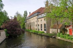 plas in begijnhof, stad Brugge