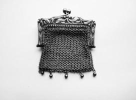 art nouveau maretak portemonnee verguld goud antiek sterling zilver foto
