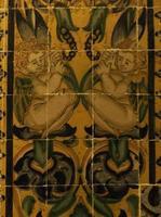 antieke keramische tegels foto