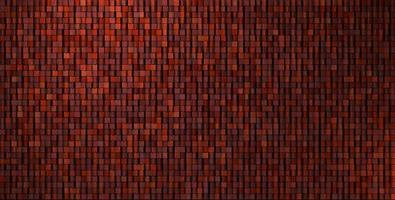 3d onregelmatige grungy mozaïekmuur in diep rood foto