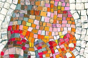 marmeren steen mozaïek textuur als achtergrond foto