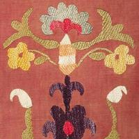 oud kleurrijk Arabisch tapijtwijnoogst