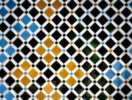 detail van een muur in het alhambra, granada, spanje
