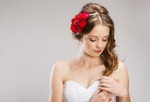 mooie bruid foto
