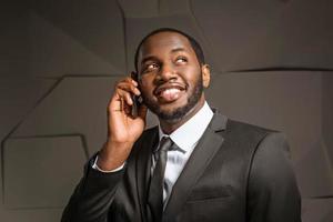 concept voor Afro-Amerikaanse zakenman foto