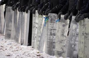 protest tegen de regering in Oekraïne foto