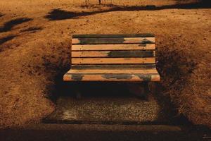 houten bank foto