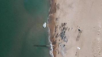 luchtfoto van waterlichaam foto