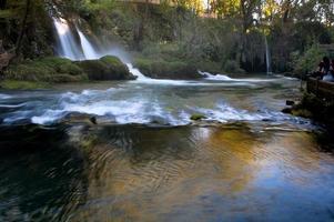waterval herfst reizen foto